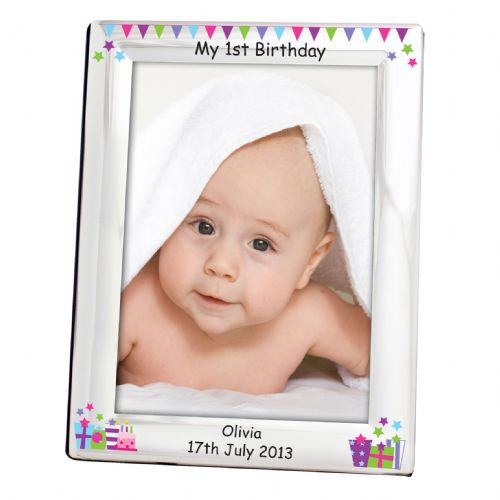 Personalised Birthday Presents Silver 5x7 Frame
